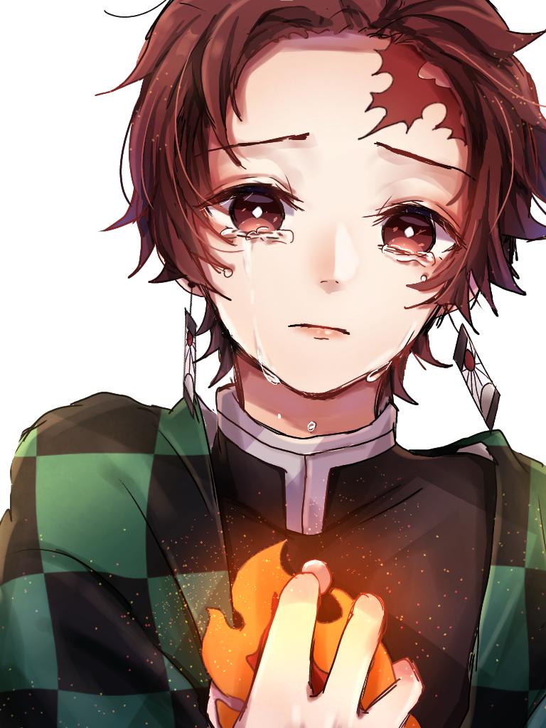 温かい Illust of ペニーパニー 炎 demon 竈門家 KimetsunoYaiba art fanart KamadoTanjirou tears