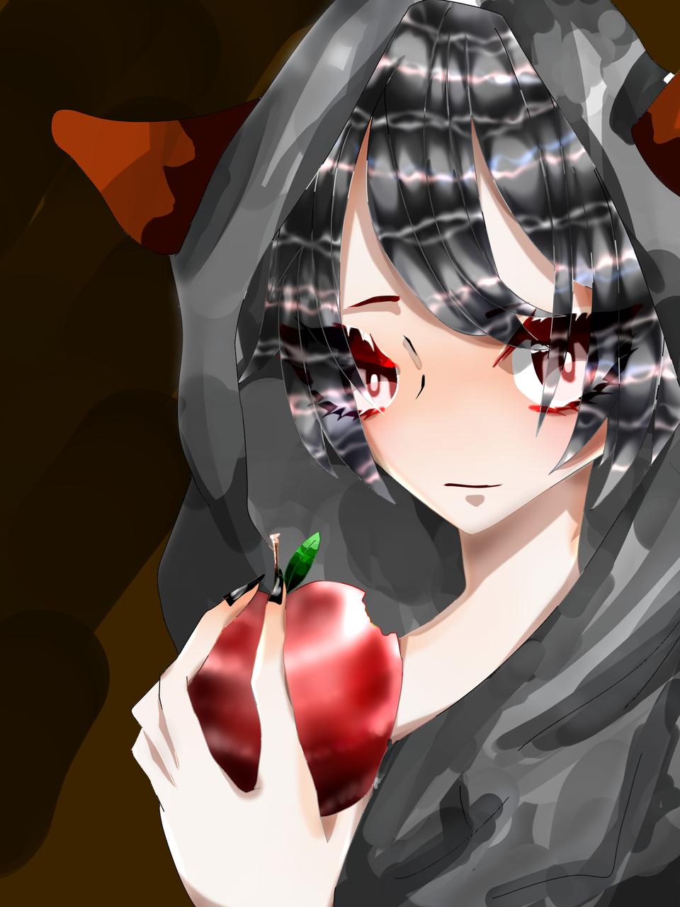 林檎 Illust of 如月来蕾≮TRPG≯ medibangpaint wolf apple boy 黒髪 パーカー? oc