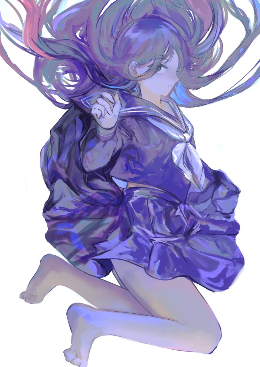 青く Illust of そねまこと doodle girl original blue sailor_uniform