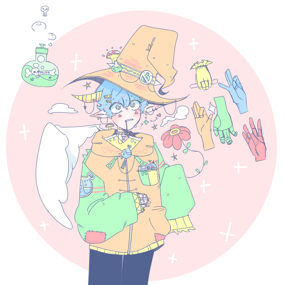 how to draw hands again? Illust of Doll medibangpaint hand doodle wizard