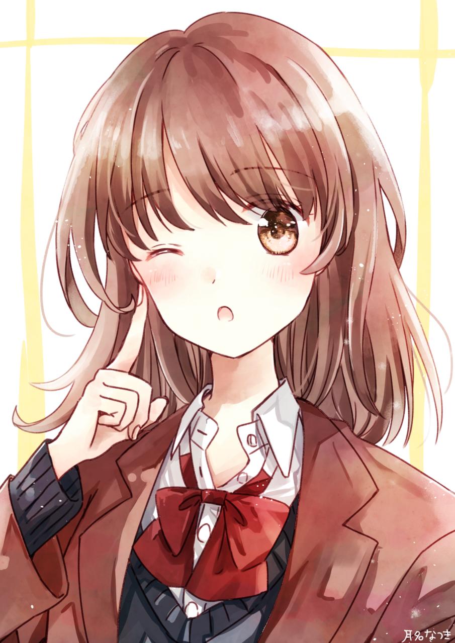 ウインク Illust of 月名なつき original 高校生 メイキング動画 girl