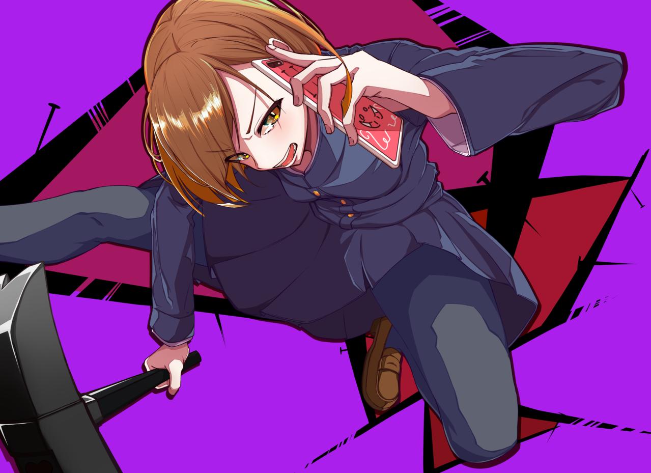 ながら祓い Illust of マロン JujutsuKaisenFanartContest kawaii 女子高生 JujutsuKaisen girl Nobara_Kugisaki