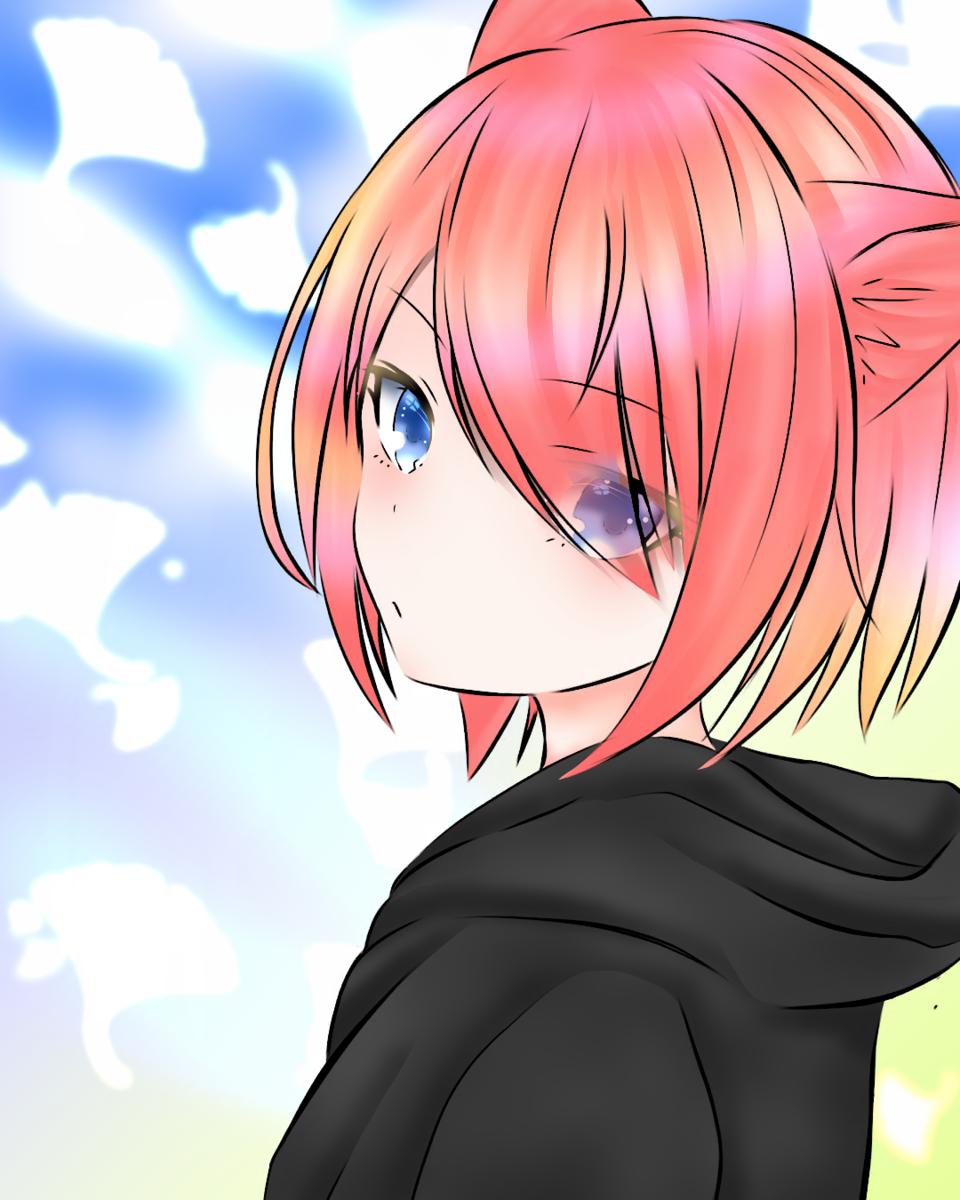こんにちは Illust of Milotoka MyIdealWaifu MyIdealWaifu_MyIdealHusbandoContest cat_ears girl animegirl cute art illustration kawaii anime