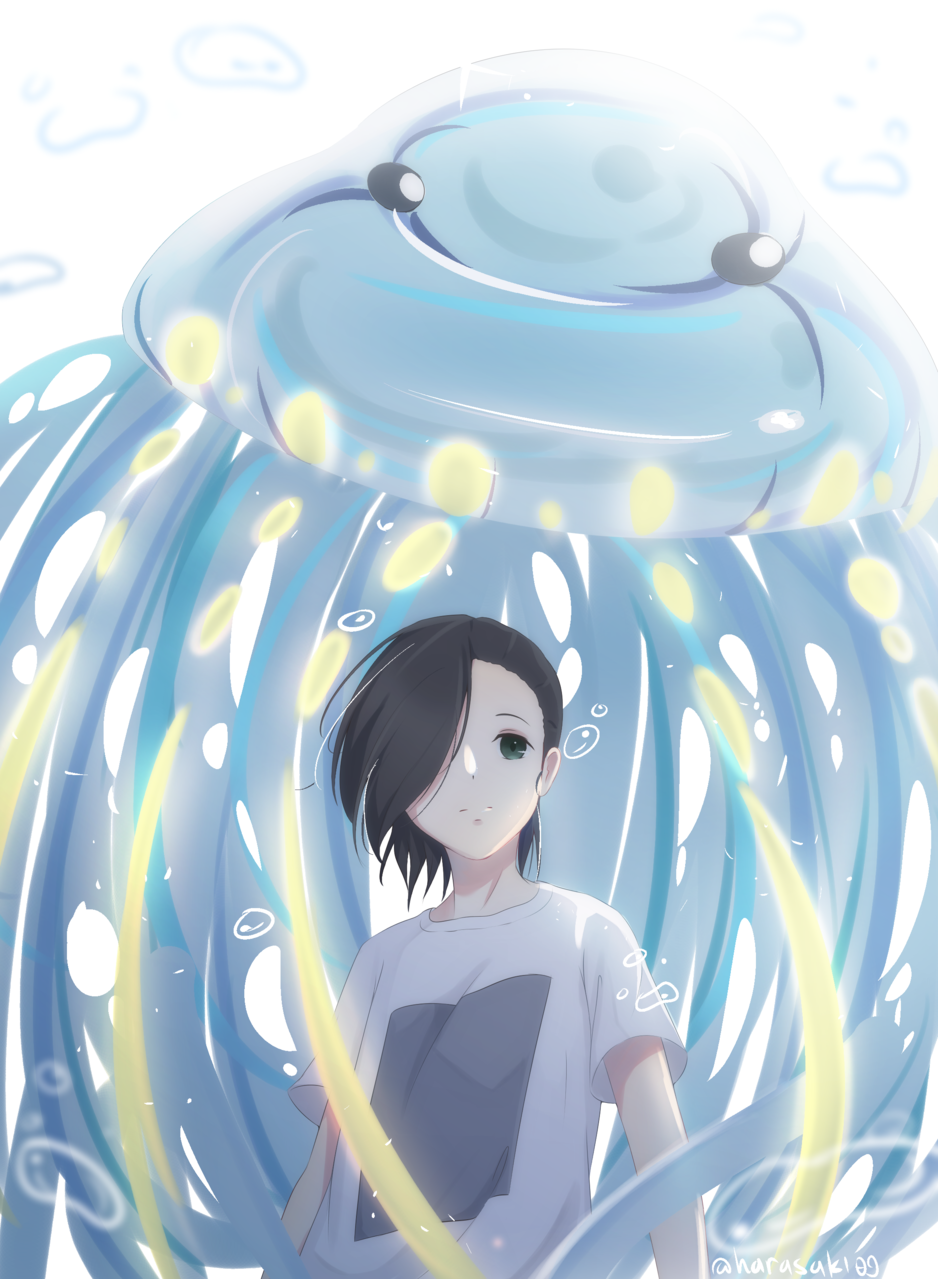 Blub..... Illust of HaraSaki JujutsuKaisenFanartContest anime fanart 吉野順平 jellyfish illustration JujutsuKaisen