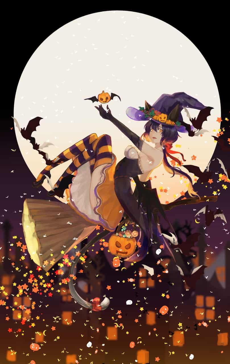 不給糖就搗蛋 Illust of maplecing Oct.2019Contest 貓 witch 萬聖節快樂 Halloween