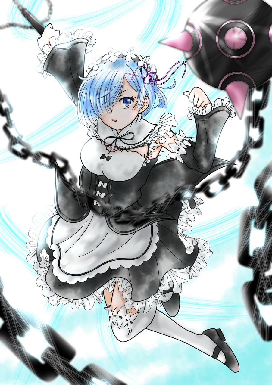 リゼロ レム Illust of りん🌸いつも眠いw Rem ブルー Re:Zero