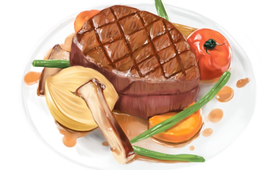 お肉、、 Illust of keika October2020_Contest:Food 肉 ステーキ food