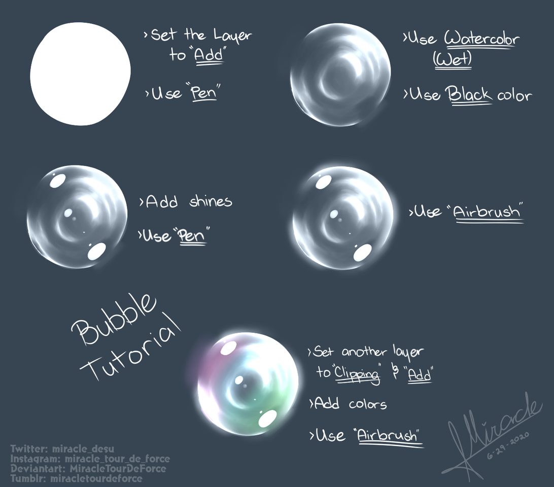 Bubble Tutorial Thingy Illust of MiracleTourDeForce medibangpaint