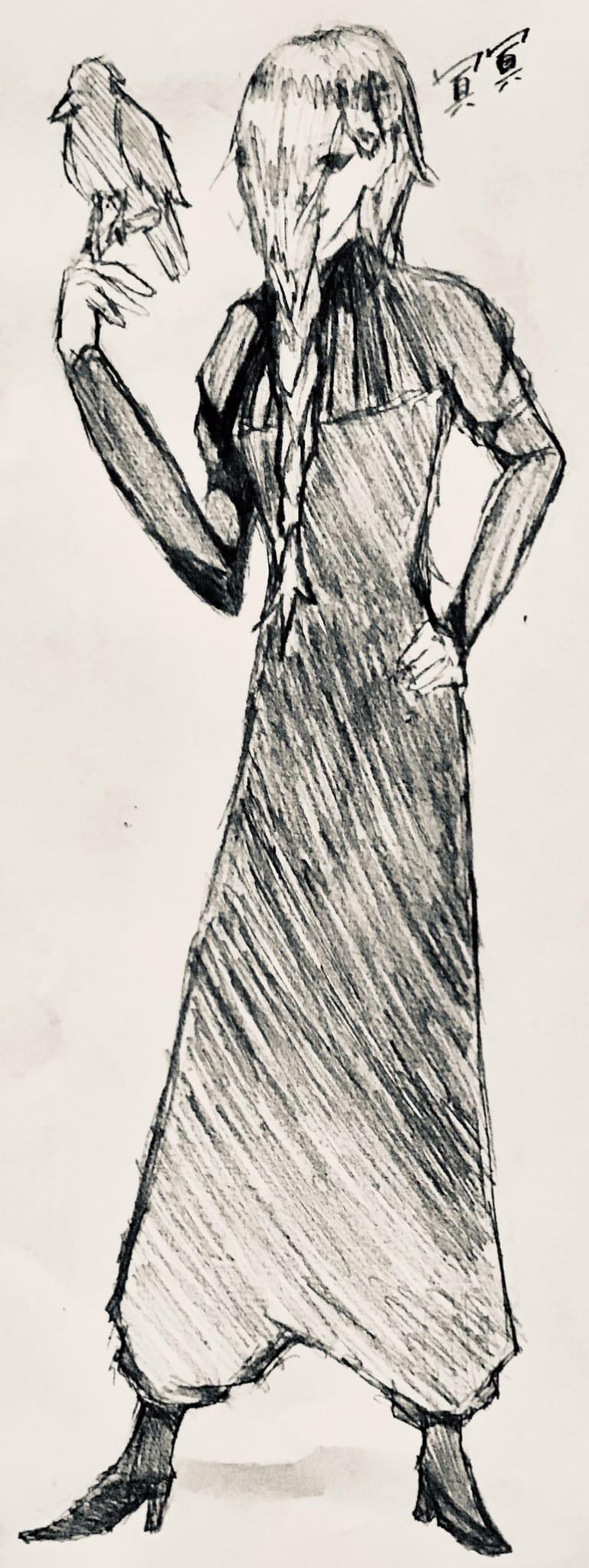 冥冥 Illust of りりもん/±± #4級絵師 JujutsuKaisenFanartContest 冥冥 アナログ JujutsuKaisen