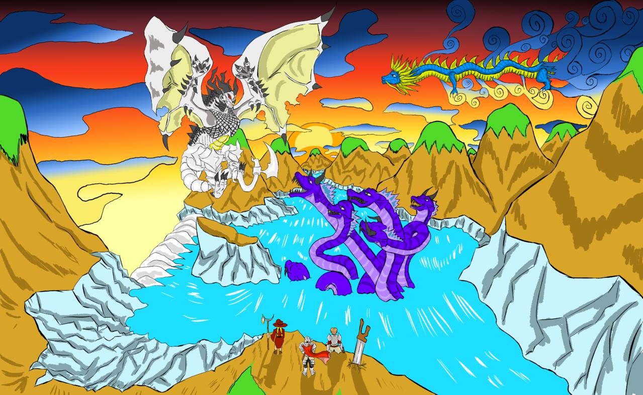 atardecer de fantasía  Illust of zorkoon February2021_Fantasy