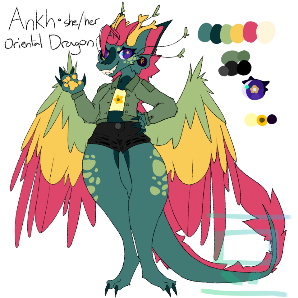 custom adopt for Zyvra Drangonfyre Illust of 💚beans💙 oc dragon hello adopt cute custom furry