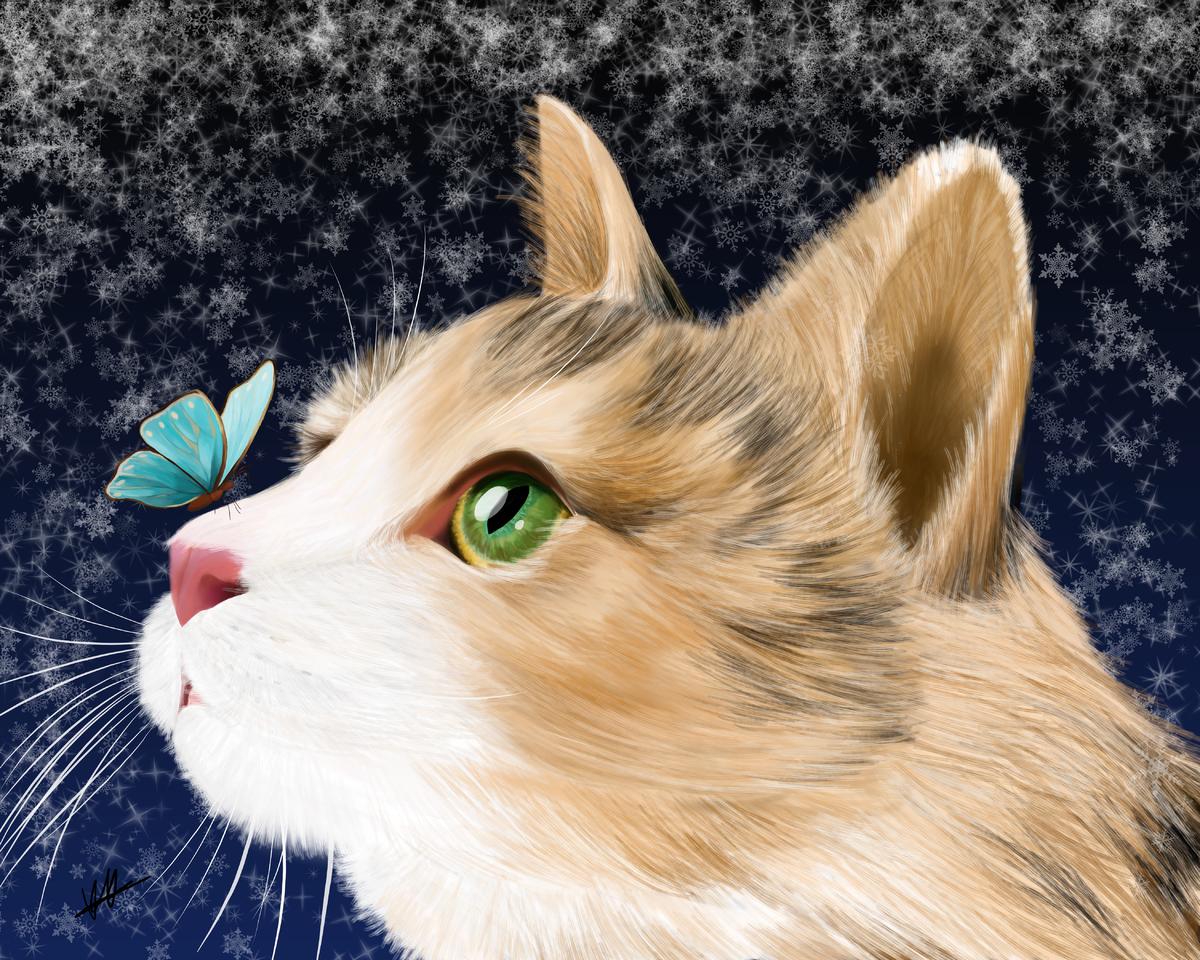 Calico Illust of Misaki DOGvsCAT_CAT