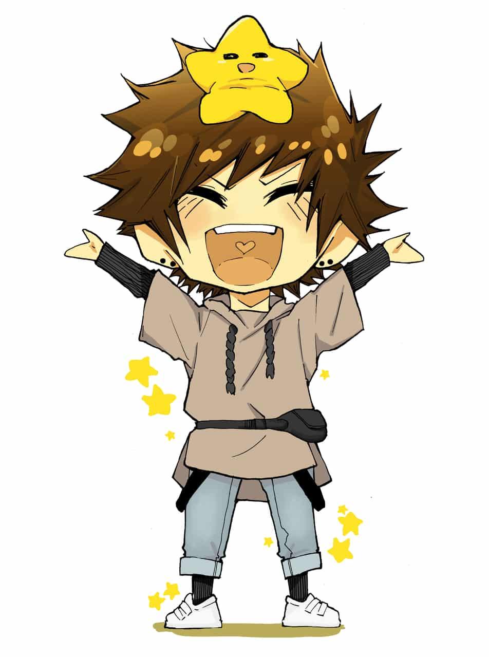 ⭐😄⭐ Illust of Nass chibi art star cute anime boy
