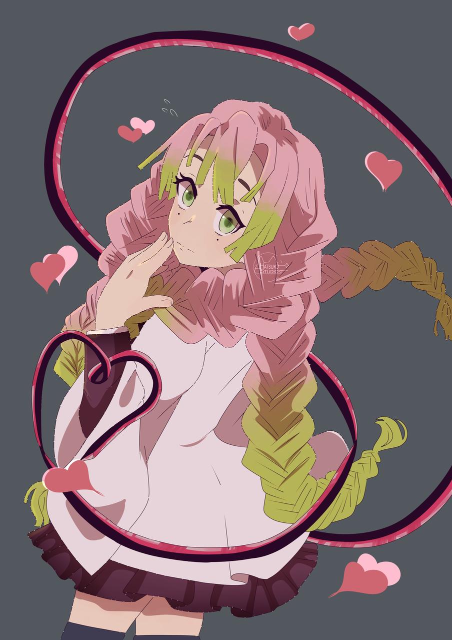甘露寺蜜璃 Illust of Hatsuko San DemonSlayerFanartContest medibangpaint KanrojiMitsuri KimetsunoYaiba