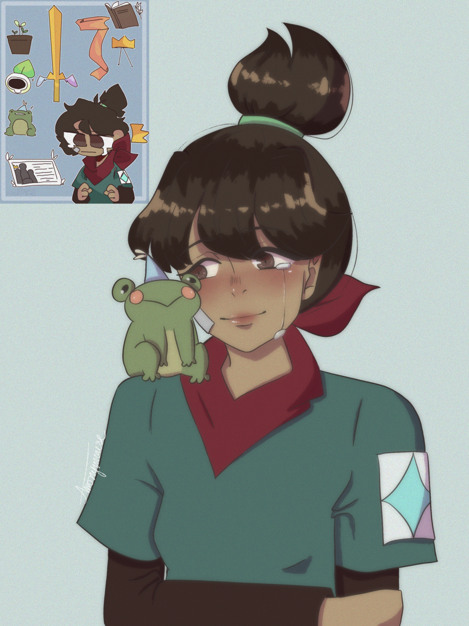 prize for mint mochi Illust of AnonymouseSaysHoooi prize Frog