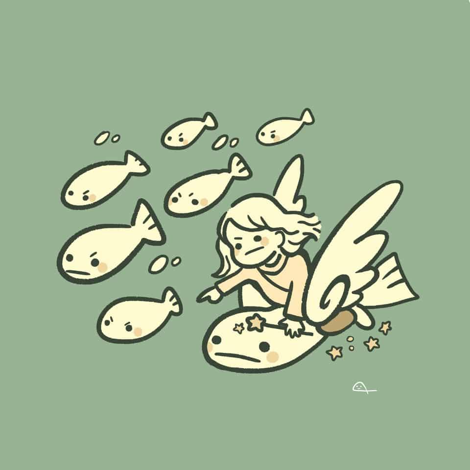 お魚の戦士 Illust of takehara medibangpaint