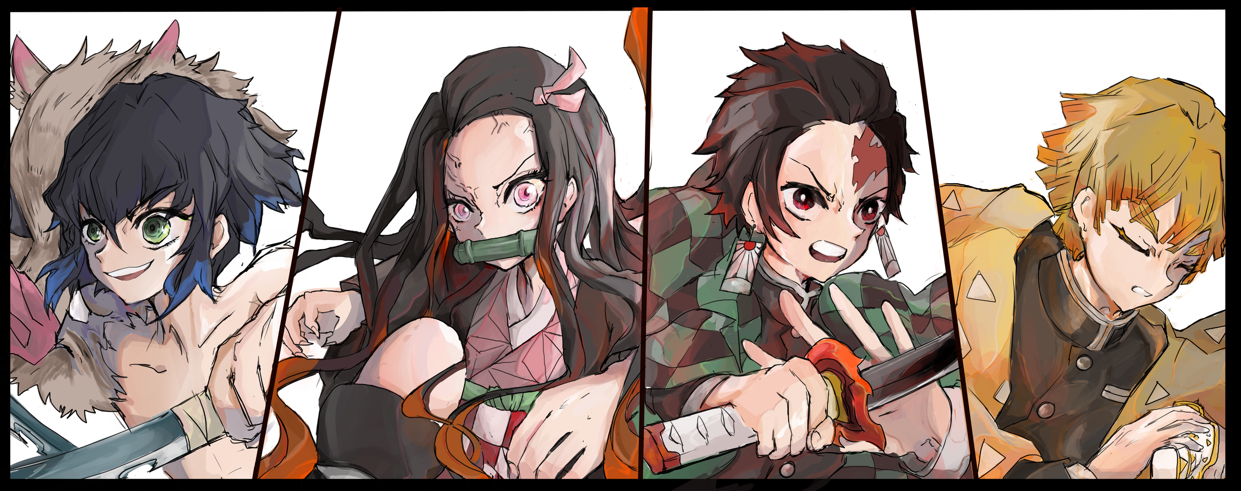かまぼこ隊四人組 Illust of saku ARTstreet_Ranking medibangpaint かまぼこ KimetsunoYaiba
