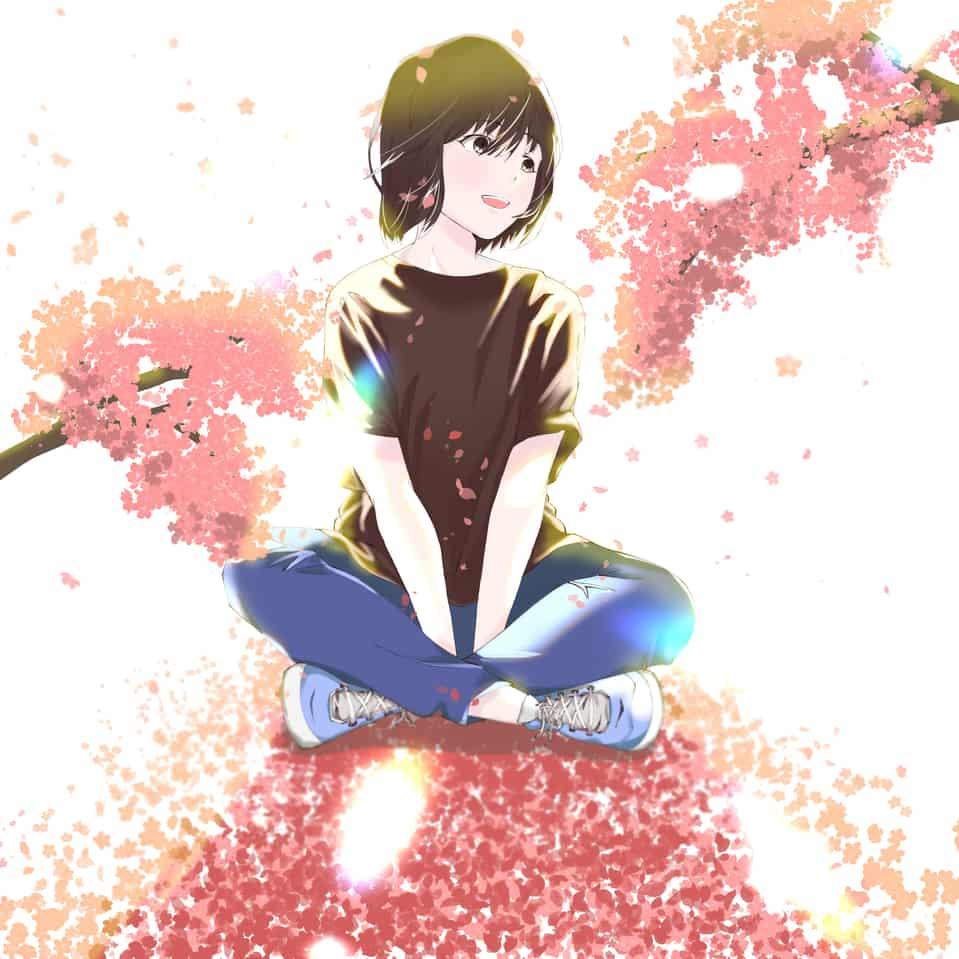 花見 Illust of summersky Original_Illustration_Contest 春 girl oc original illustration sakura kawaii digital doodle