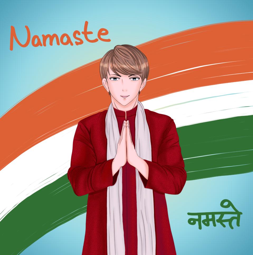 Culture/Namaste (India) Illust of brave john ARTstreet_Ranking brag.your.country color original namaste Culture traditional medibangpaint Countryhumans Indian