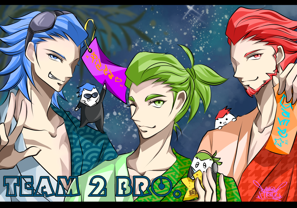 2BRO.♪ 七夕☆(Festival of the Weaver☆) Illust of Manu ゲーム実況者 TEAM2BRO. 七夕 2BRO. yukata star おついち 兄者弟者 YouTuber handsome