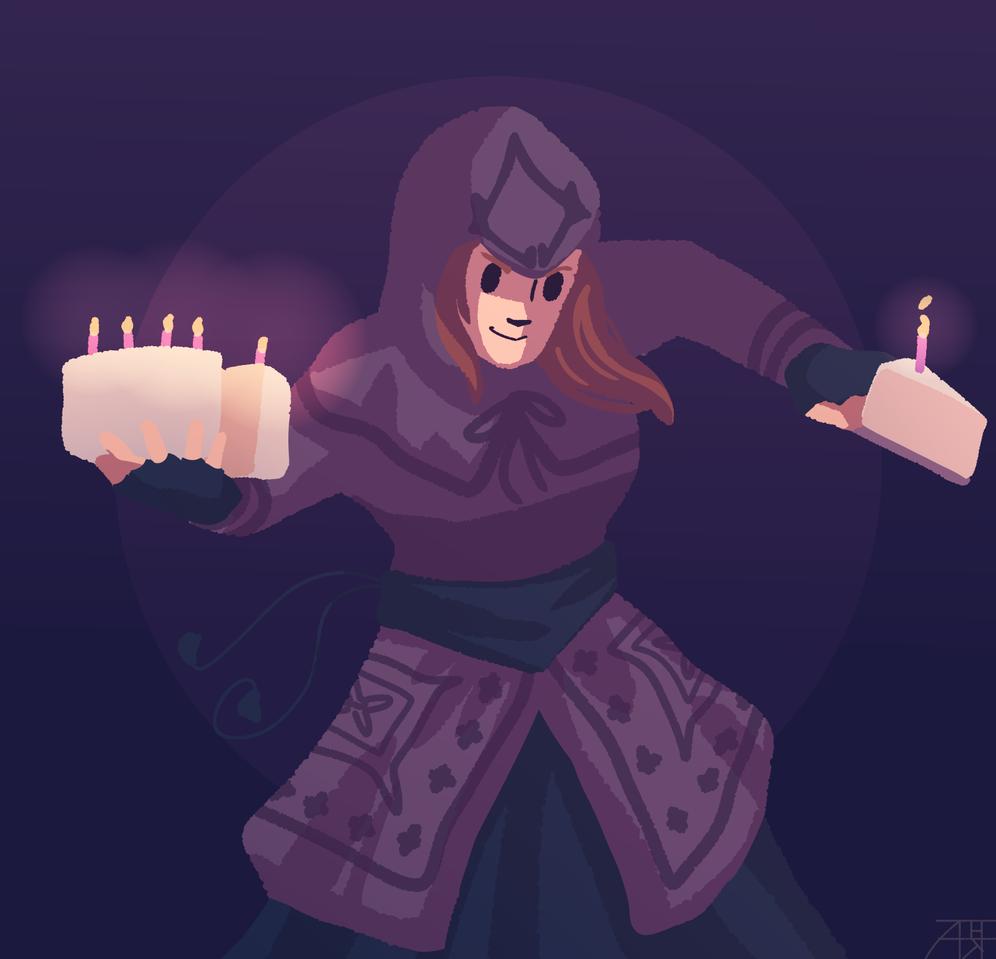 Valariel Illust of Mr.Sheogorath medibangpaint cake bday assassin assassinscreed Valariel happybirthday