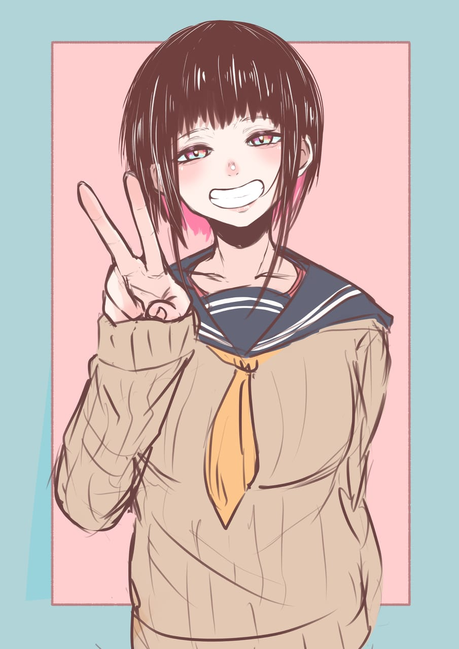 ぴーすだぞぉ Illust of G-man uniform girl セーター JK ショートヘア