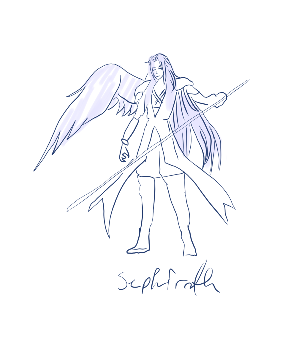 Sephiroth figure  Illust of Purple.fries giftyouwant2020 giftyouwant2020:10000YenGift