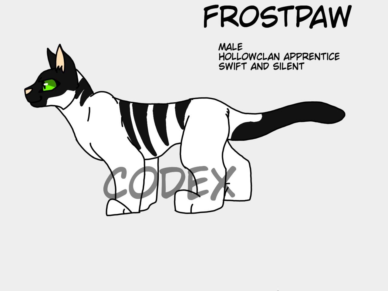 FrostPaw  Illust of HeadHonchoCodex medibangpaint HeadHonchoCodex cat warriorcats furry boy dark Warriors snow oc