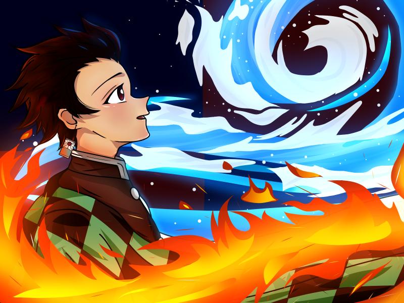 Tanjiro/Demon Slayer.      💖 Fanart 💖 Illust of JeeAreAy DemonSlayerFanartContest jumppaint iPad_raffle KamadoTanjirou