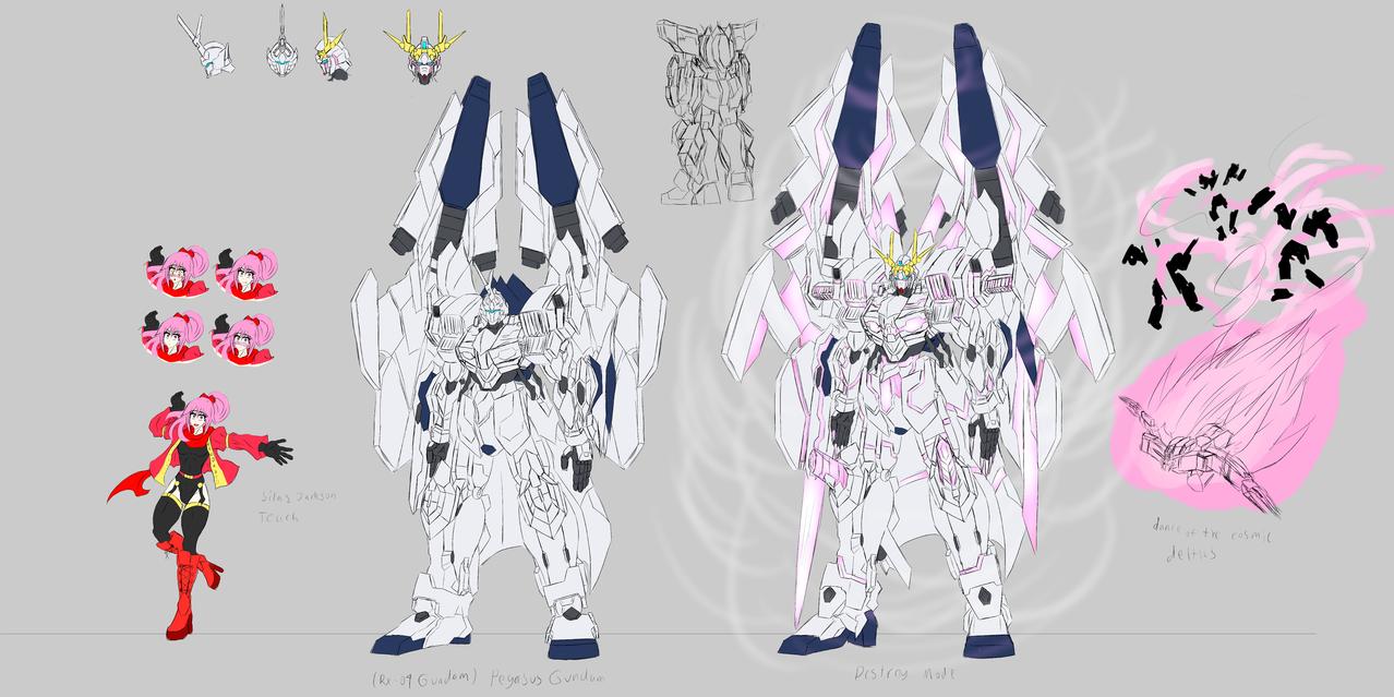 Silas Jackson Teach and the Pegasus Gundam