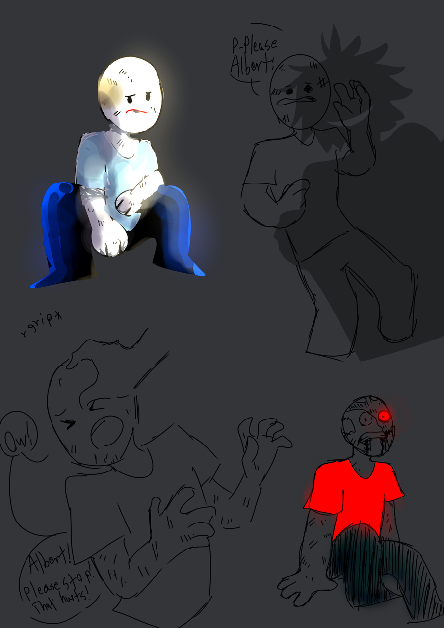 Sad Felipe doodles ;(((((