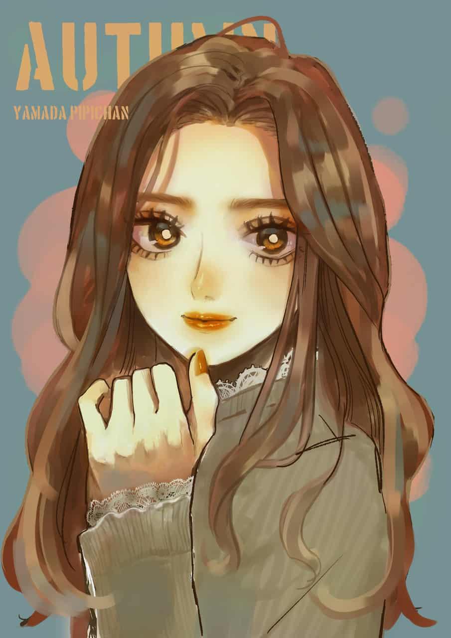 Autumn Illust of 山田ピピちゃん MyIdealWaifu_MyIdealHusbandoContest MyIdealWaifu medibangpaint グリザイユ girl