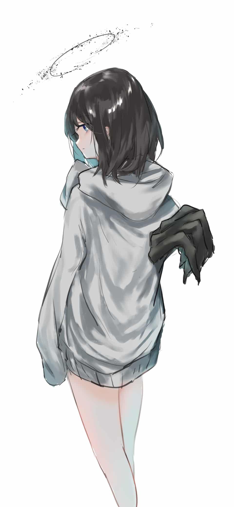 10/4日が天使の日だったのでうちの天使ちゃん Illust of そねまこと 手んし angel ルイちゃん original