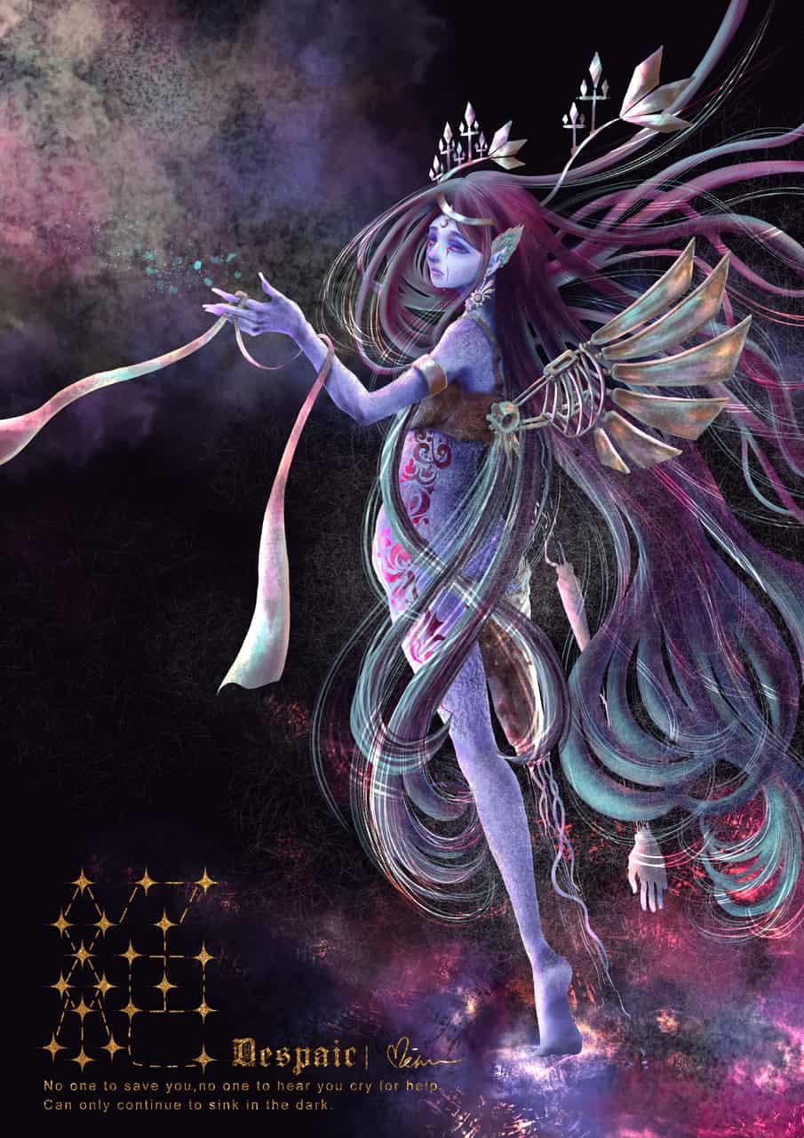 絕 Illust of Miru米如 horror February2021_Fantasy August2020_Contest:Horror original impasto 絕望 無線繪 CLIPSTUDIOPAINT Despair 奇幻