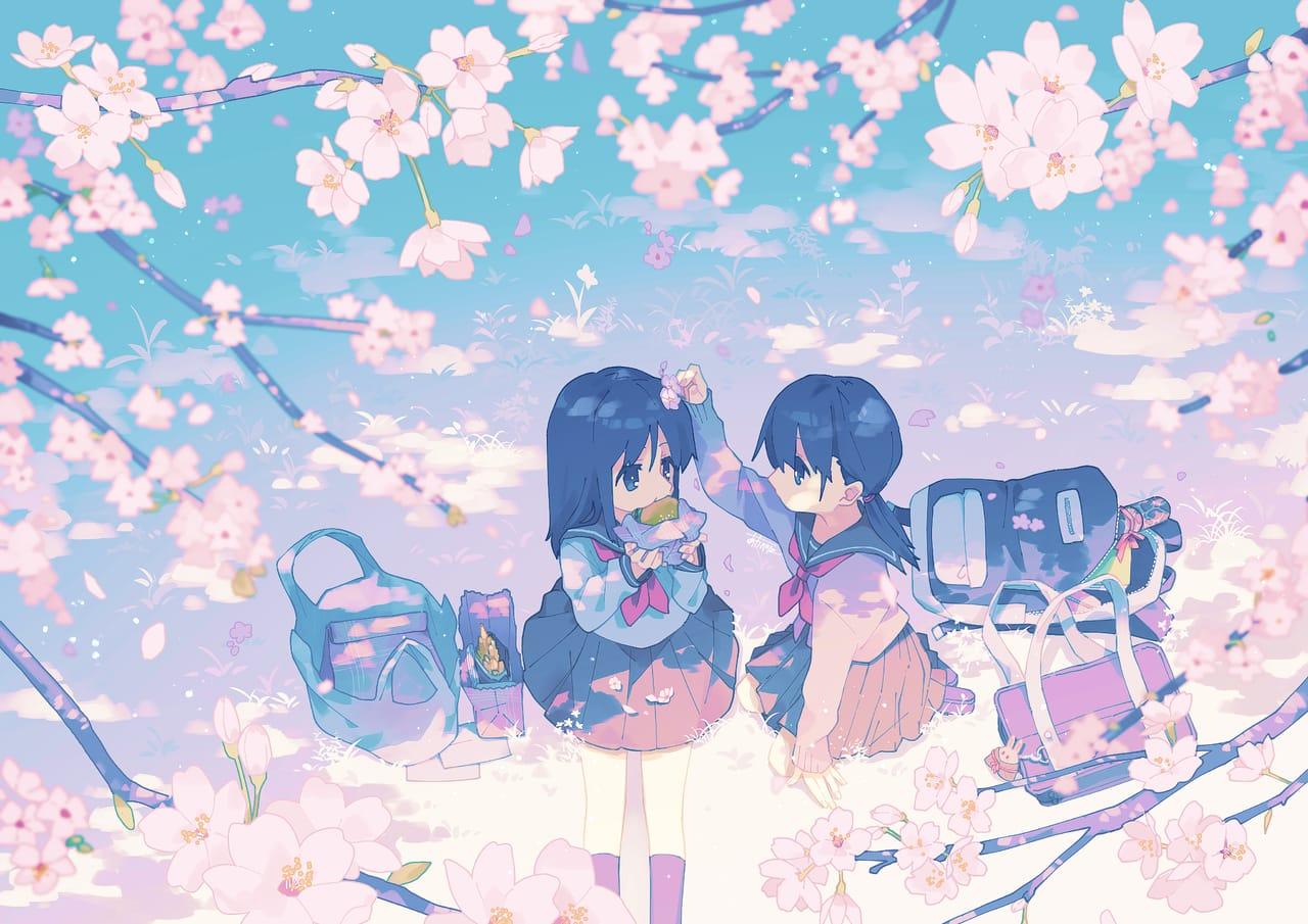 青い春 Illust of あわべに original girl kawaii sakura sailor_uniform
