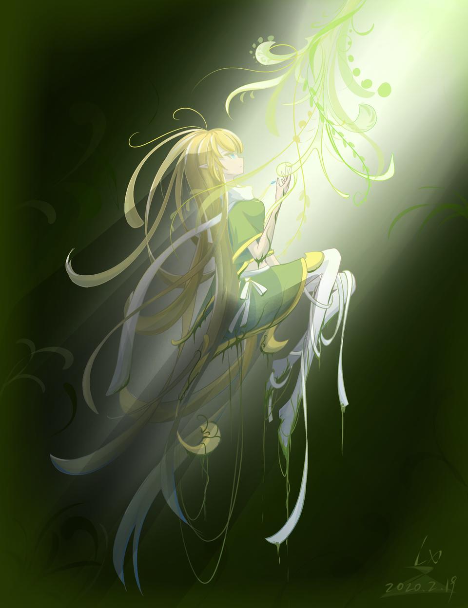 植物 Illust of 怜雪 medibangpaint girl