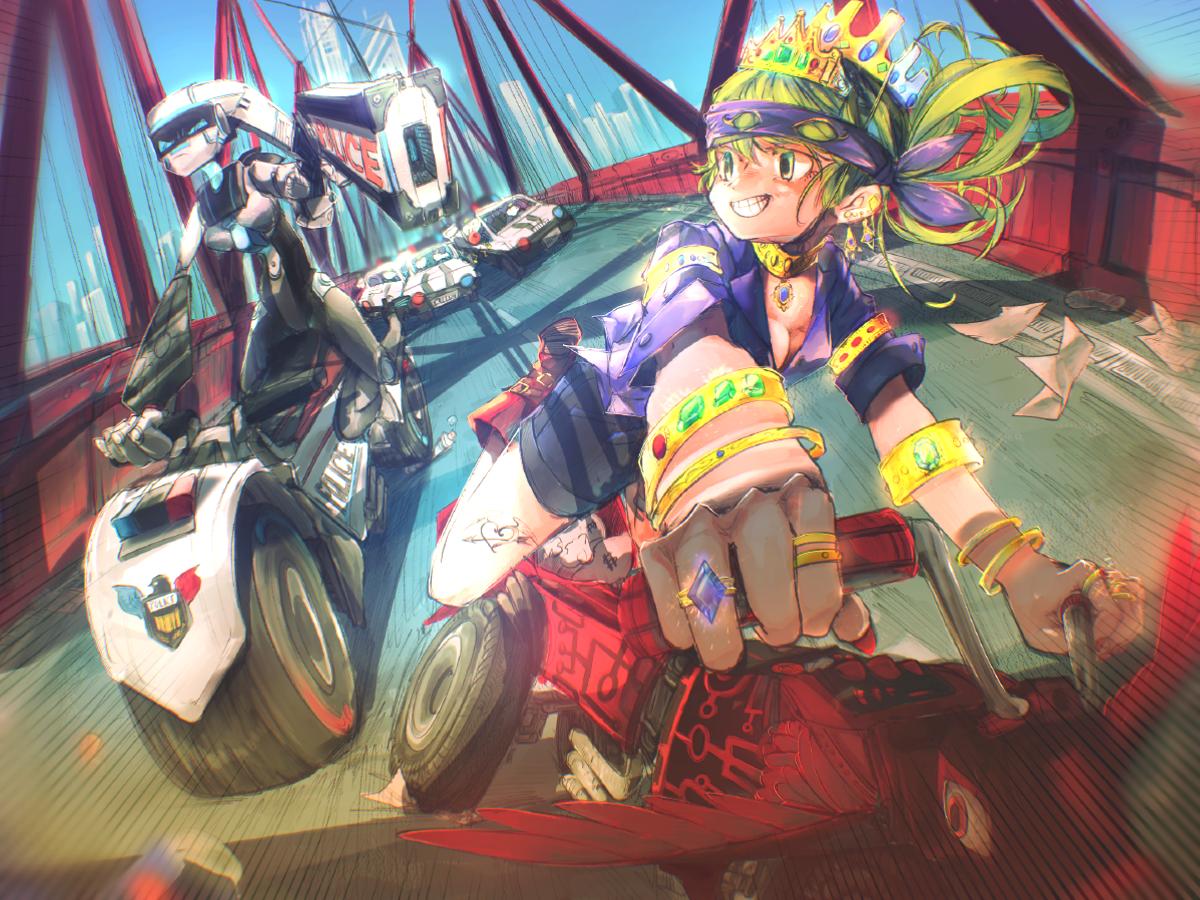 白昼堂々逃走中 Illust of あみみん original ロボット medibangpaint girl oc