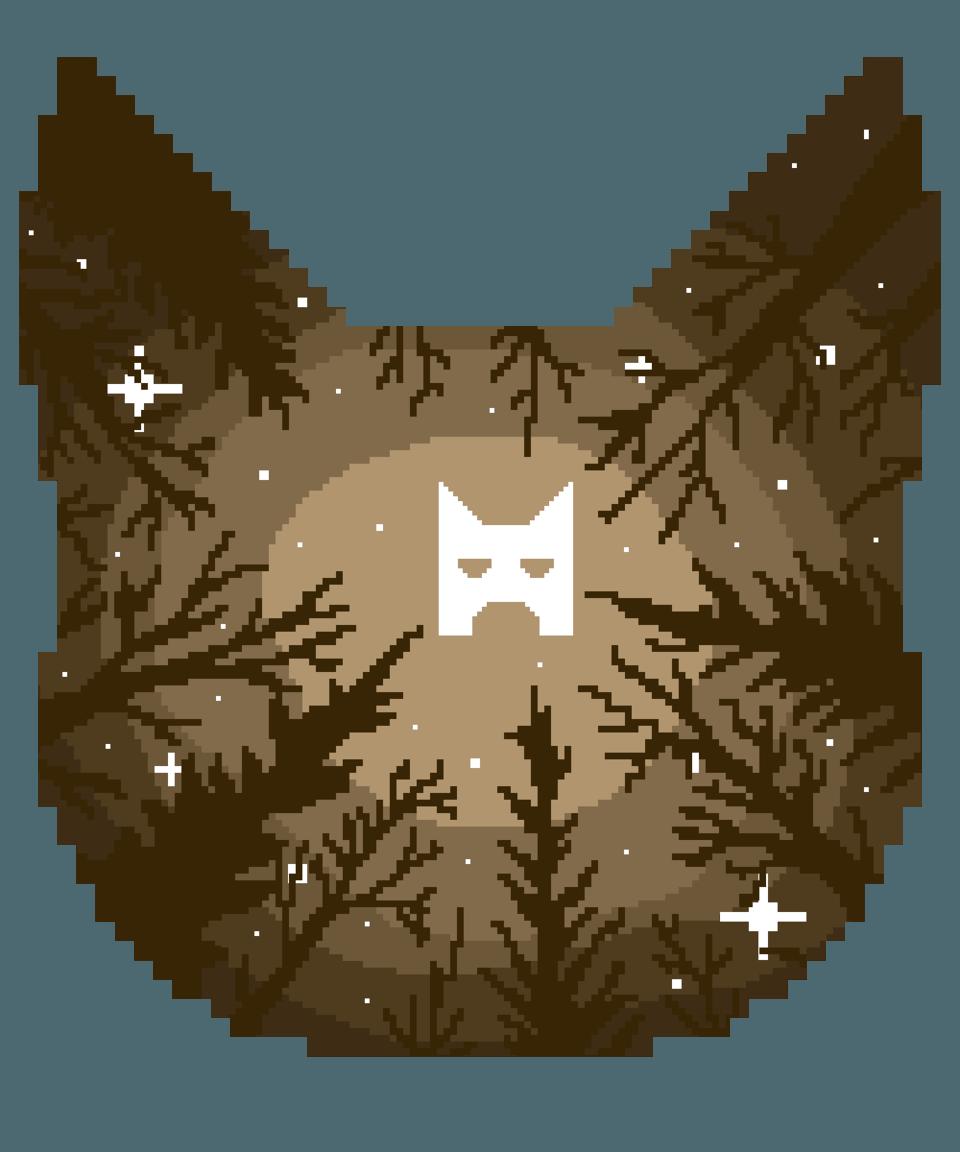 ShadowClan Illust of ✧ Midnight ✧ Warriors warriorcats Brown pixels star pixelart