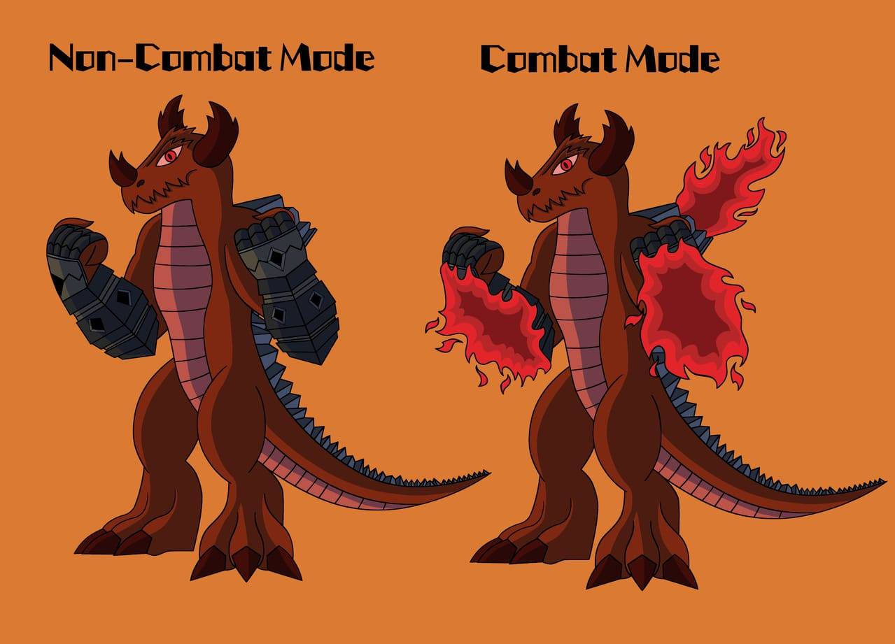 Red Dwarf Star Dragon Illust of jason__the__artist original digitalartwork dragon creature digitaldrawing medibangpaint art Artwork originalart digital