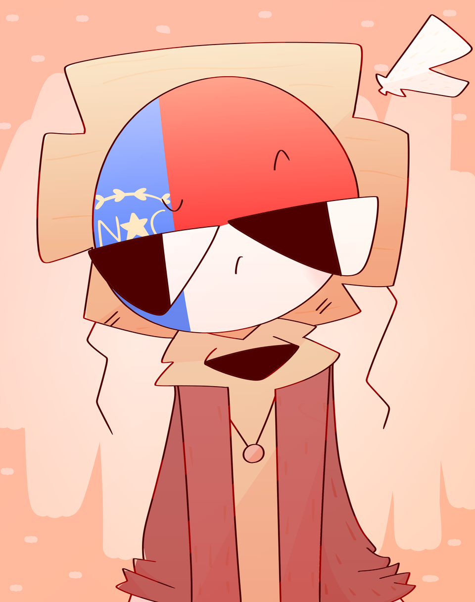 NC-)  Request from Db Illust of TragicallyLiving medibangpaint cartoon request NorthCarolina countrystate Countryhumans Nc countrystates °RedundWhite°