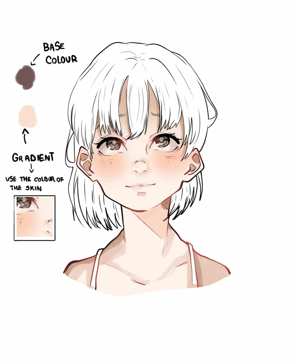 How I Normally Colour Hair Illust of HONEYINRICE Post_Multiple_Images_Contest tutorial anime mangaka webcomic manga hair digital