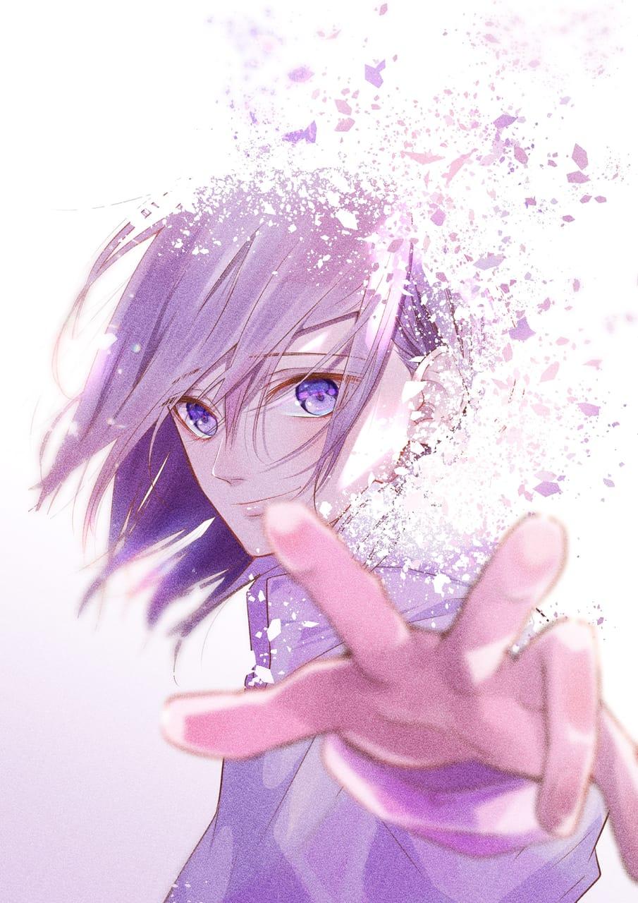 この身が塵になっても Illust of とのくろ purple 切ない long‐haired_man oc