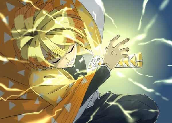 雷の呼吸 壱ノ型  Illust of いず DemonSlayerFanartContest KimetsunoYaiba AgatsumaZenitsu
