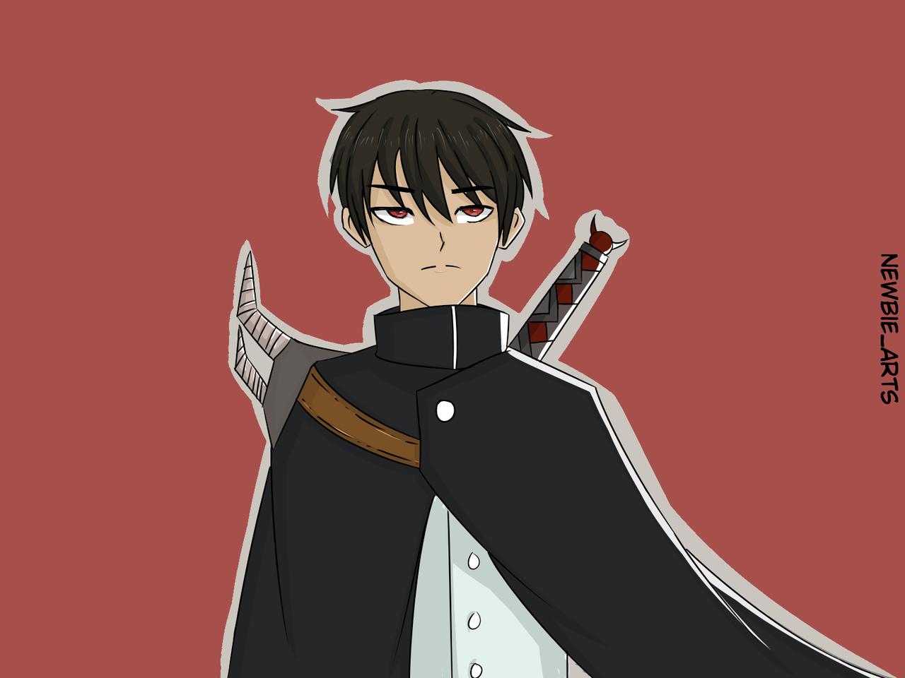 OC: Yuu Illust of Newbie MySecretSocietyContest boy illustration oc anime