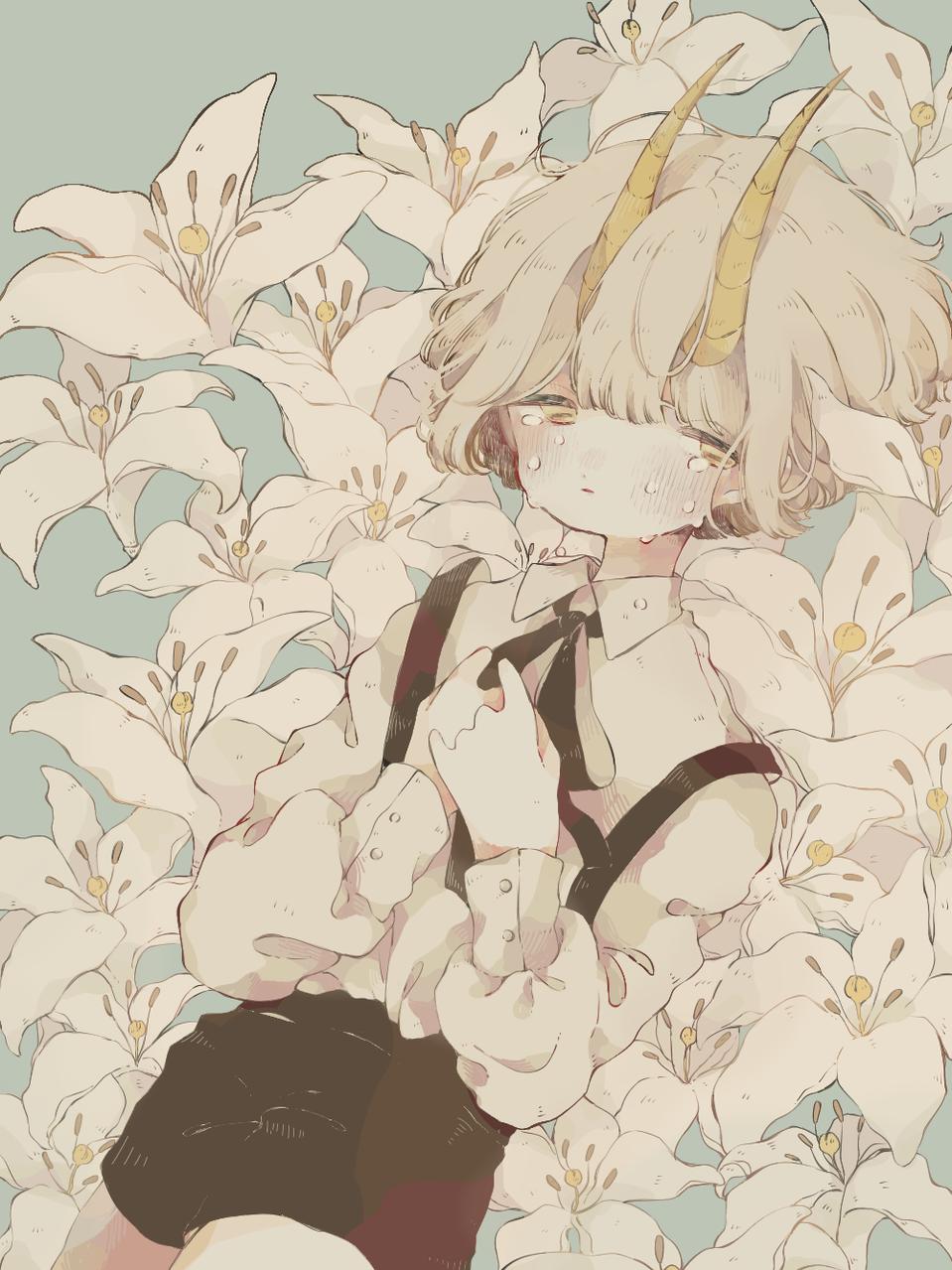 * Illust of mi medibangpaint kawaii ユリ horn