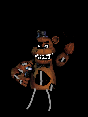 FNAF 1 Withered Freddy Form - TheMarionetteFNAF | Illustrations