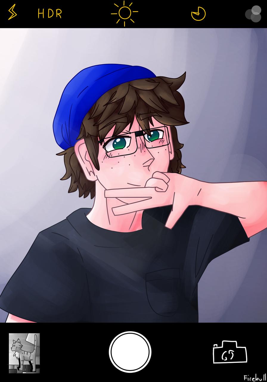 Ayyy selfie Illust of Firebull selfie blue medibangpaint thisartshouldlvlup