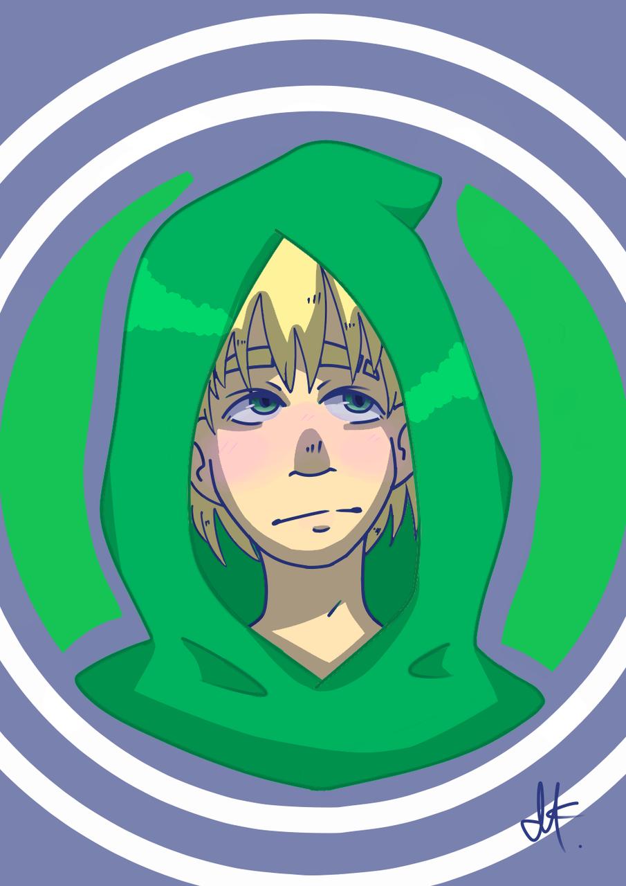 Hoodie boy Illust of Paper medibangpaint boy hoodie green