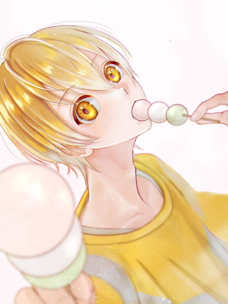 一緒にたべよ Illust of FJ boy fanart StrawberryPrince るぅと yellow かっこいい るぅとくん kawaii 三色団子