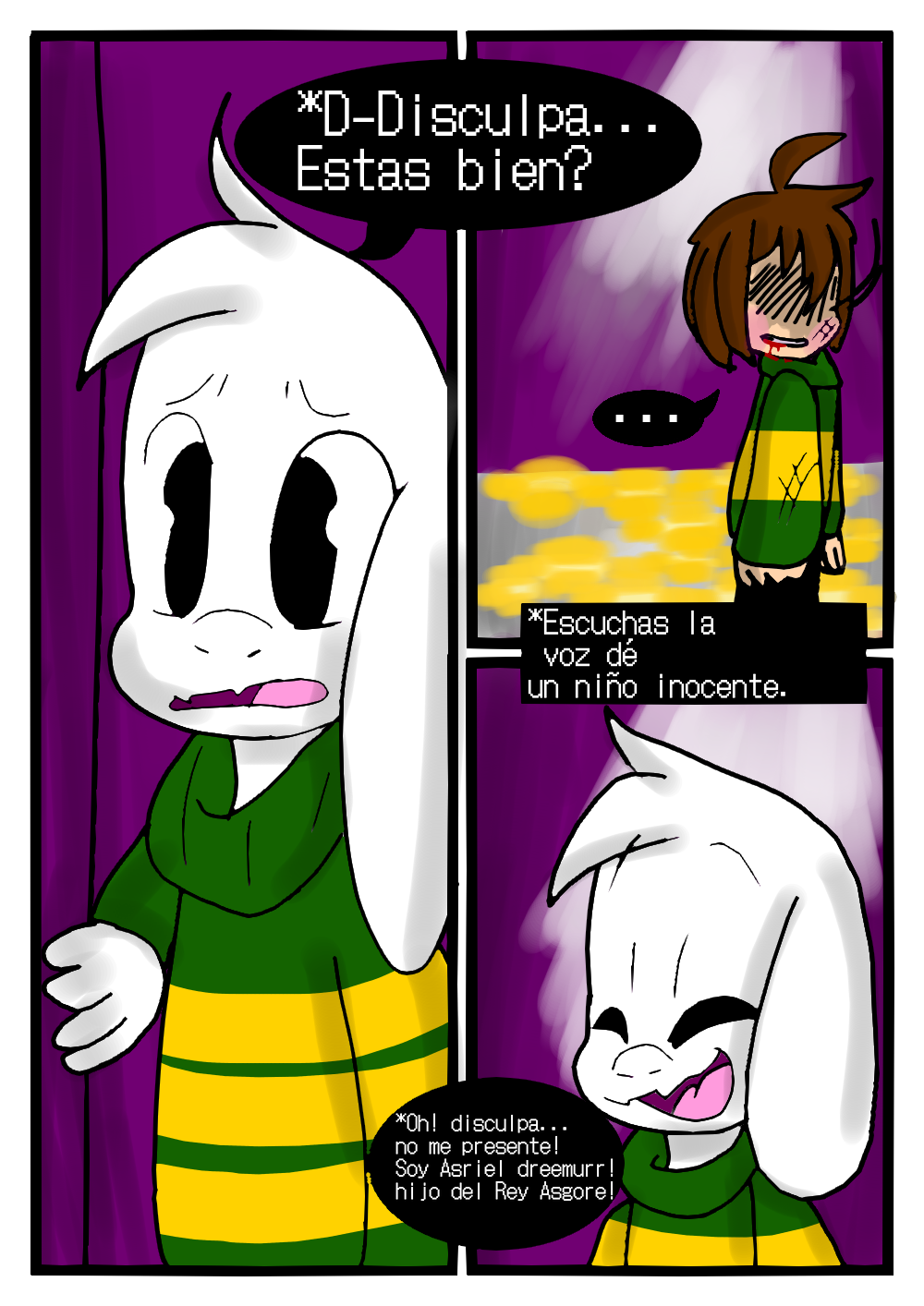 Asriel Dreemurr Comic comic! the history of chara and asriel - asrielut